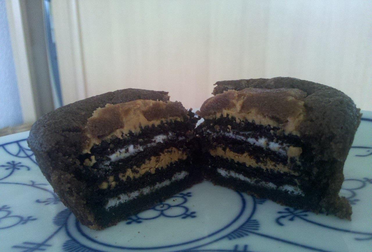Oreo Erdnussbutter Muffins Steine